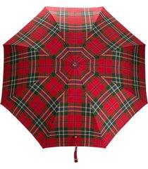 alexander mcqueen guarda-chuva com estampa xadrez - vermelho
