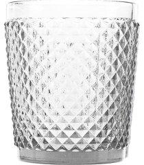 conjunto 6 copos baixos de vidro bico de jaca 300ml – linha transparente