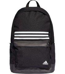 mochila negra adidas classic pocket 3 stripes