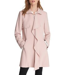 karl lagerfeld paris women's ruffled-front jacket - petal - size xs