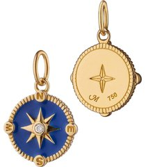 royal blue enamel compass charm