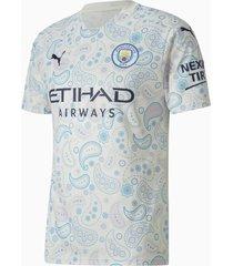 man city third replica shirt voor heren, blauw/wit, maat l | puma