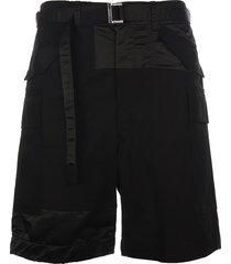 cotton nylon oxford shorts