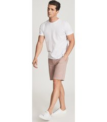 reiss wicket - casual chino shorts in pink, mens, size 36