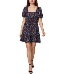 bcbgeneration printed square-neck a-line dress