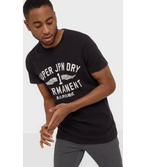 superdry desert classic tee t-shirts & linnen black