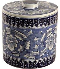 pote decorativo de porcelana com tampa azure