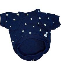 granatowa bluza w serduszka dla psa