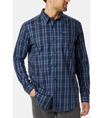 columbia men's big & tall vapor ridge iii modern classic-fit plaid shirt