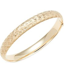 14k yellow gold embossed cuff bracelet