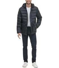 kenneth cole new york men's oversized bellow pocket hooded puffer jacket