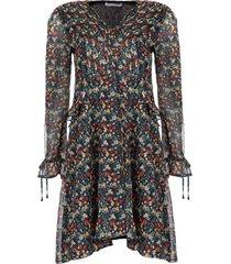 jurk met bloemenprint lexie  zwart