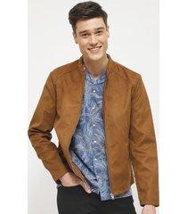 chaqueta jack & jones marrón - calce regular
