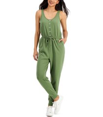 style & co sleeveless jumpsuit, created for macy's