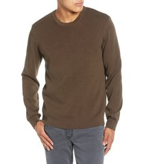 men's french connection milano regular fit crewneck sweater, size xx-large - green