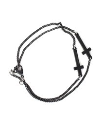 dsquared2 painted metal jesus bracelet w/cross