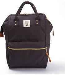 mochila oxford impermeable de tela oxford-negro