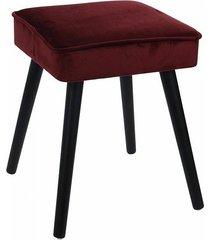 stołek taboret tapicerowany bordowy