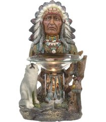 native indian oil/tart warmer - use with scentsy & yankee candle wax