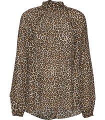 eveline blouse blouse lange mouwen bruin andiata