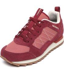 zapatilla alpine sneaker burdeo merrell