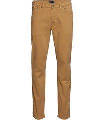 slim desert jeans slimmade jeans brun gant