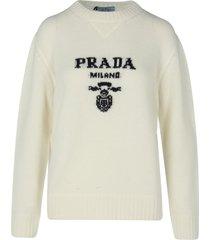 prada cashmere wool crewneck sweater