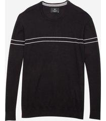 blusa dudalina tricot duas listras finas masculina (cinza claro, xgg)