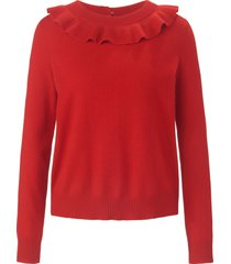 trui met ronde hals van 100% kasjmier van include rood