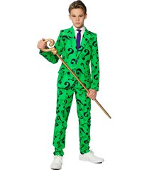 boy's suitmeister kids' the riddler two-piece suit with tie (big boy)
