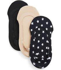 americana fine edge liner socks, pack of 3