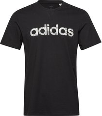 e camo lin tee t-shirts short-sleeved svart adidas performance