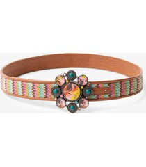 multicolour reversible braided belt - red - 90