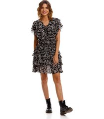 vestido medio para mujer all over printed cachemire viscose geore replay