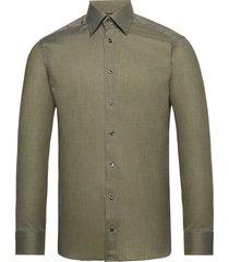 lightweight flannel shirt overhemd casual groen eton