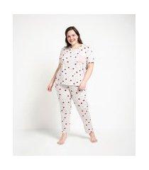 pijama longo em viscolycra estampa estrela com bolsinho curve & plus size | ashua curve e plus size | cinza | g