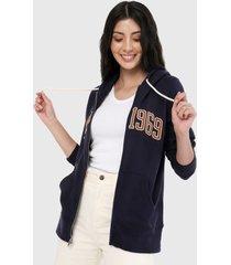 chaqueta azul navy-mostaza gap