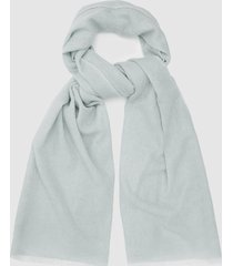 reiss marcia scarf - wool cashmere blend scarf in pale blue, womens