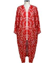 marcus adler tossed floral kimono