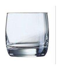 conjunto de 6 copos vigne on the rocks em vidro 310ml luminarc