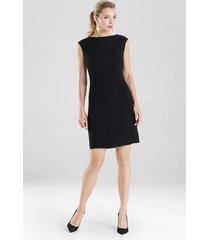 natori bi-stretch sheath dress, women's, black, size 12 natori