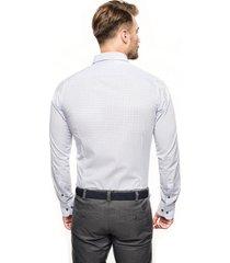 koszula bexley 2018 długi rękaw slim fit niebieski