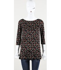 prada printed silk tunic