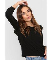 blusa negra nano libia