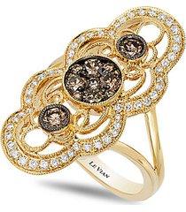 chocolatier® 14k honey gold™, chocolate diamond® & vanilla diamond® ring