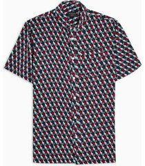 mens blue selected homme navy argyle geometric shirt
