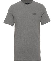 b.intl small logo tee t-shirts short-sleeved grå barbour
