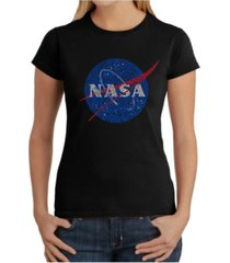 women's word art t-shirt - nasa's most notable missions