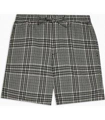 mens multi black and white seersucker woven skinny shorts