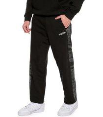 pantalón negro-blanco adidas performance m ess aop pnt